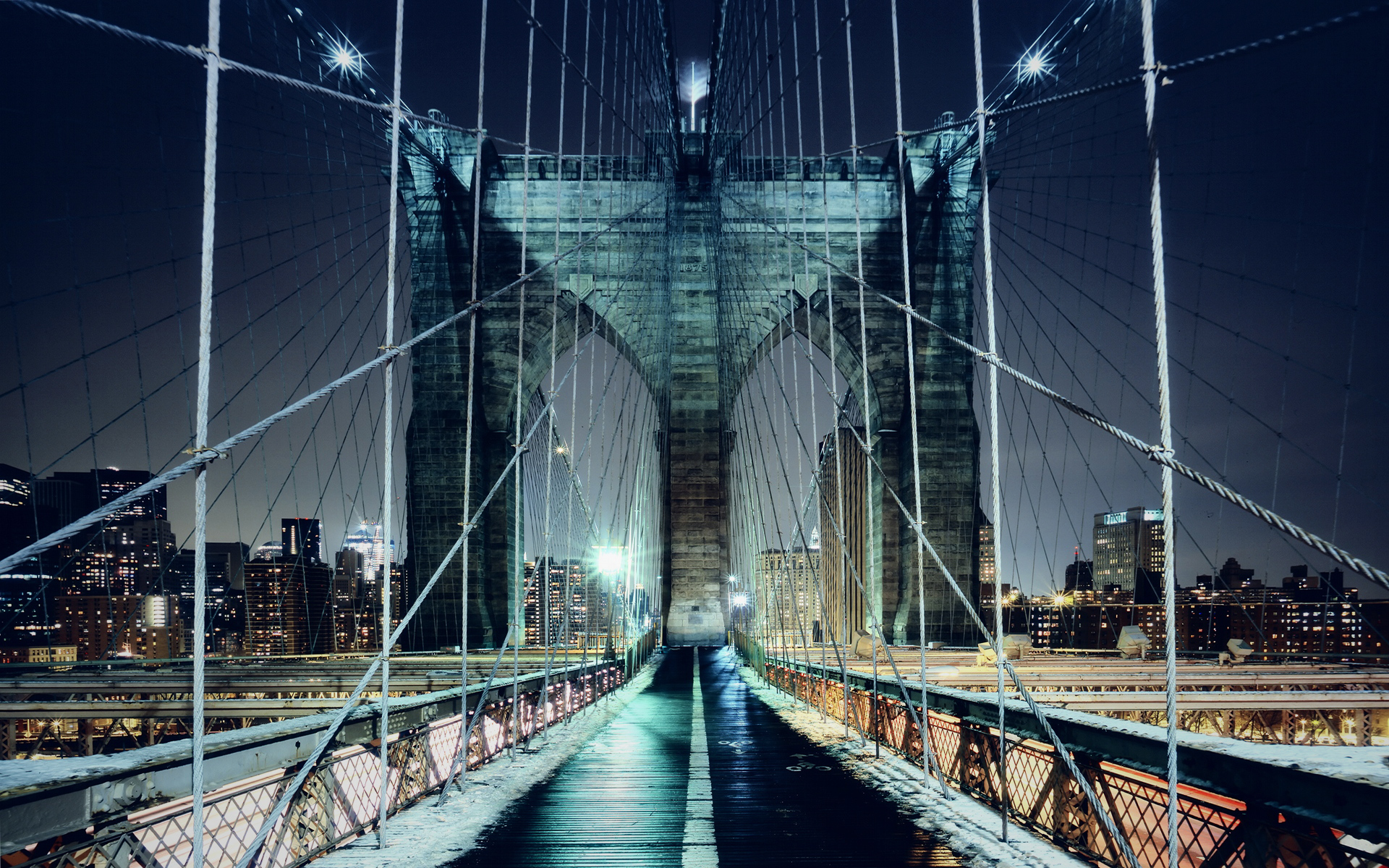 Brooklyn Bridge Walkway Wallpapers | HD Wallpapers