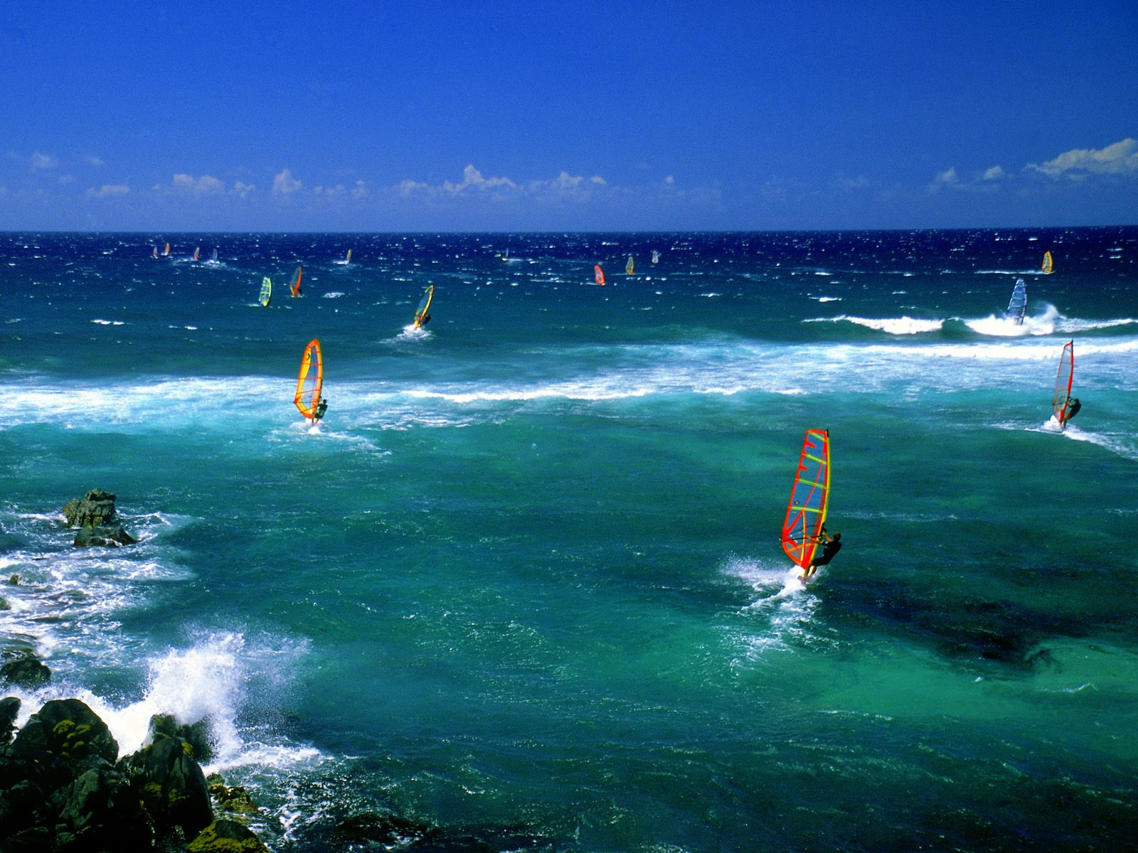 Windsurfers   Maui   Surfing Wallpaper 23340150 1600x1200