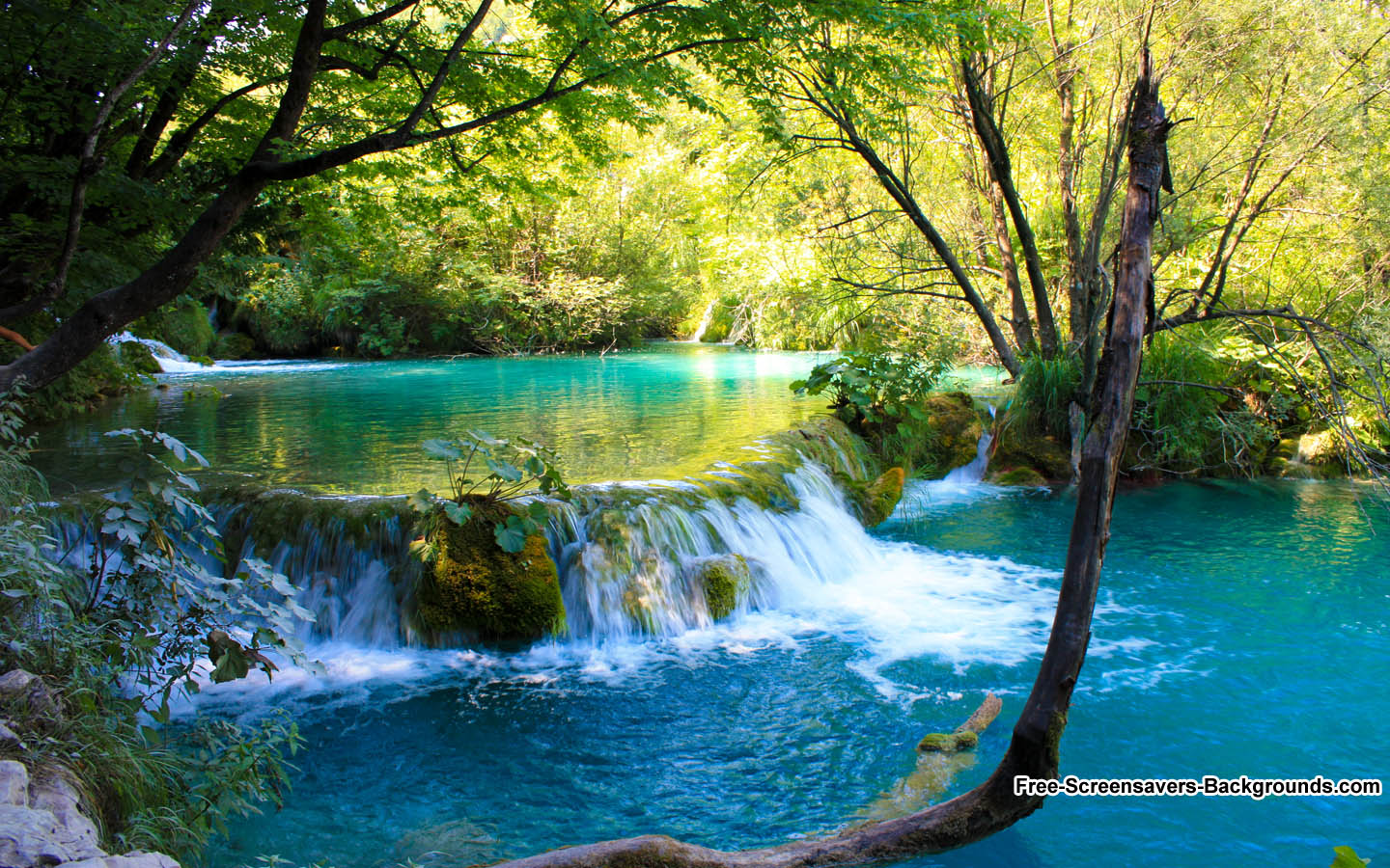 Waterfall in Plitvice National Park Croatia   Screensavers and 1440x900