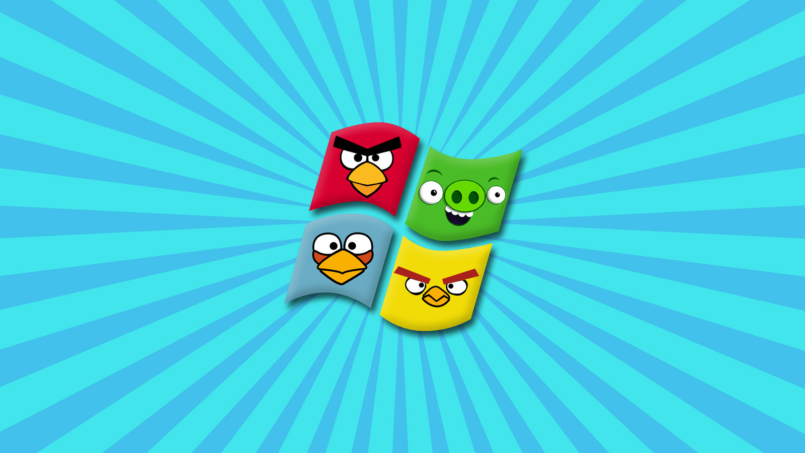 Windows 7 angry birds edition wallpaper Wallpaper Wide HD 1600x900