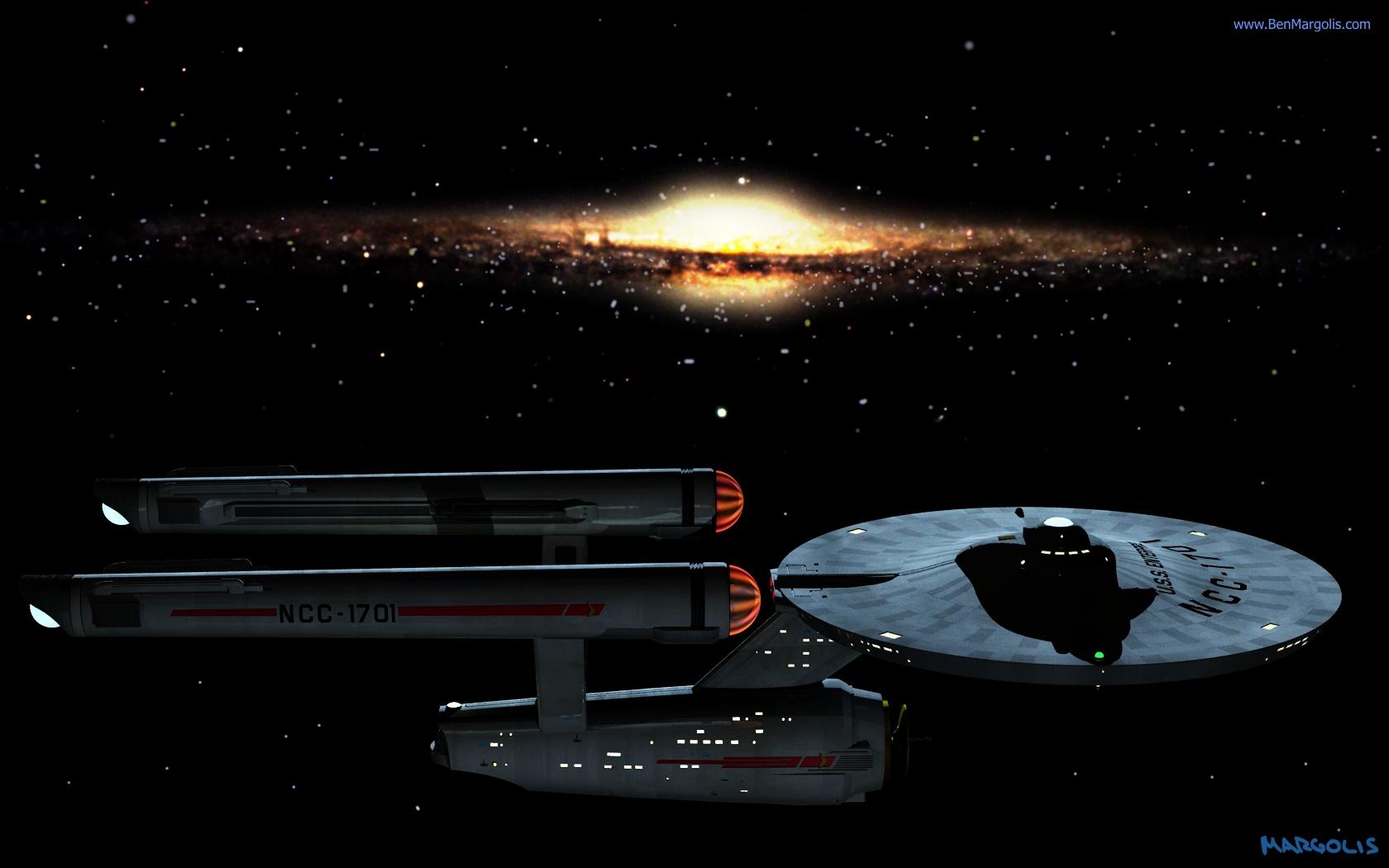 Star Trek Enterprise NCC1701 computer animated series of short films 1680x1050