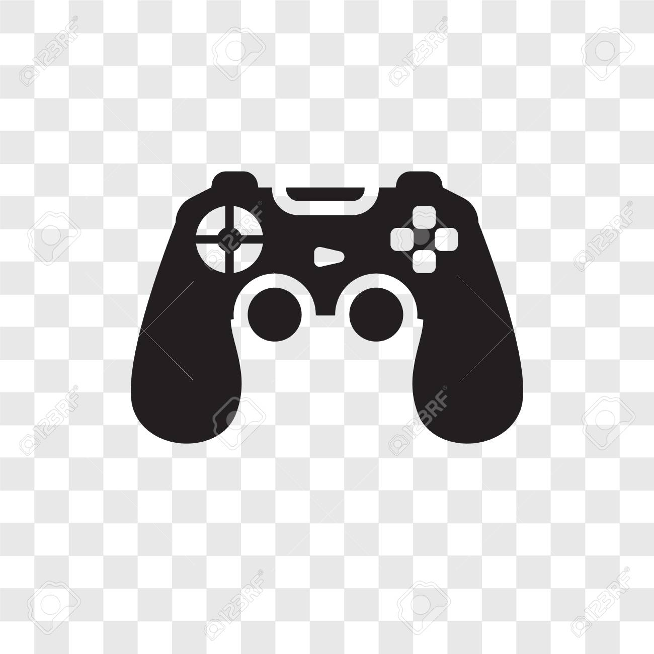Game Controller Vector Icon Isolated On Transparent Background 1300x1300