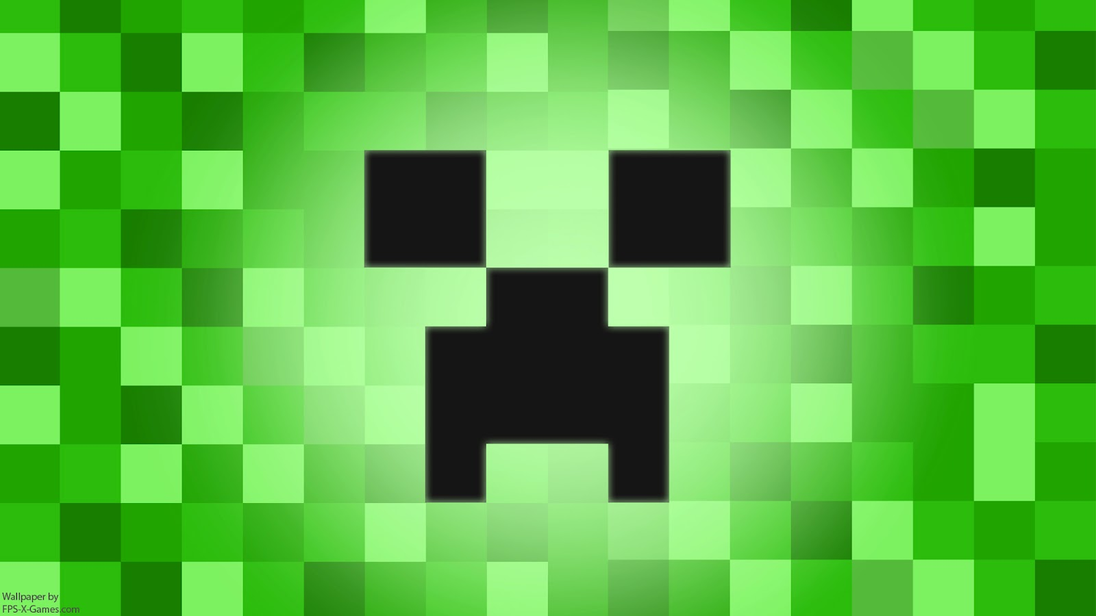 Minecraft Creeper Desktop Wallpaper 1600x900