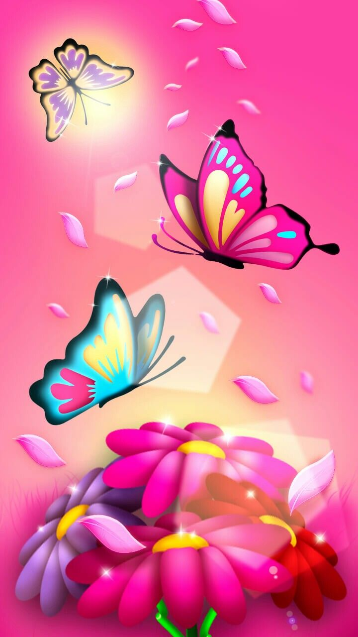 Pink Butterfly Wallpaper By Artist Unknown Butterfly 720x1280