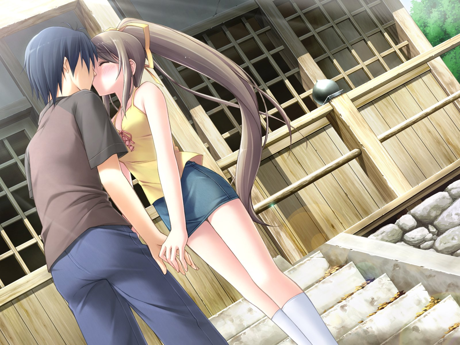 Animated Love Kiss Wallpaper : Anime Kiss Wallpapers - WallpaperSafari