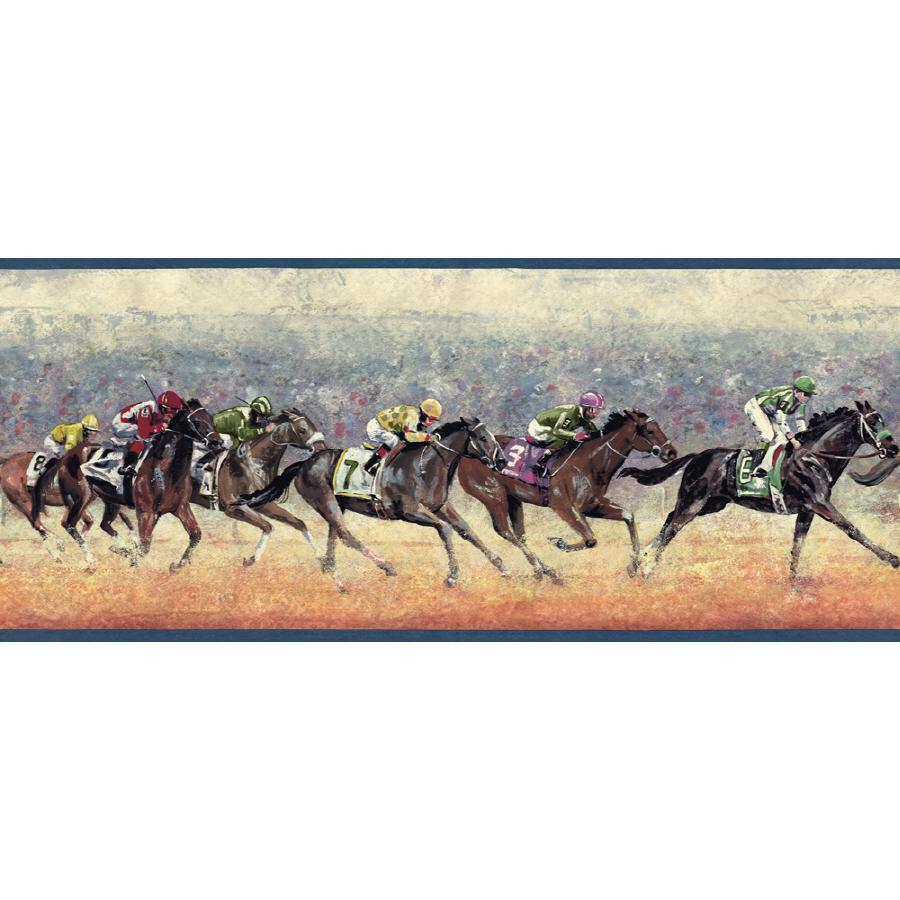 Sunworthy 10 14 Horse Racing Prepasted Wallpaper Border at Lowescom 900x900