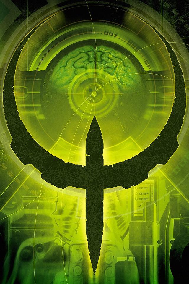 Games   Quake 4 Logo   Download iPadiPad2 Wallpaper 640x960