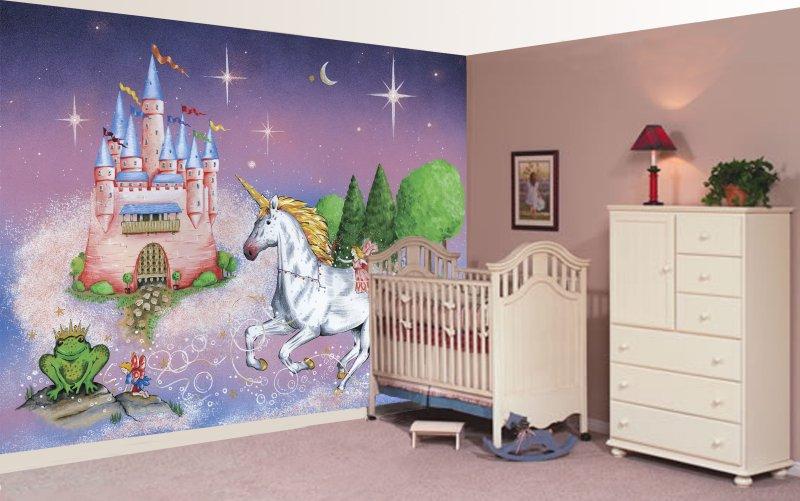 Princess Mural Wallpaper WallpaperSafari