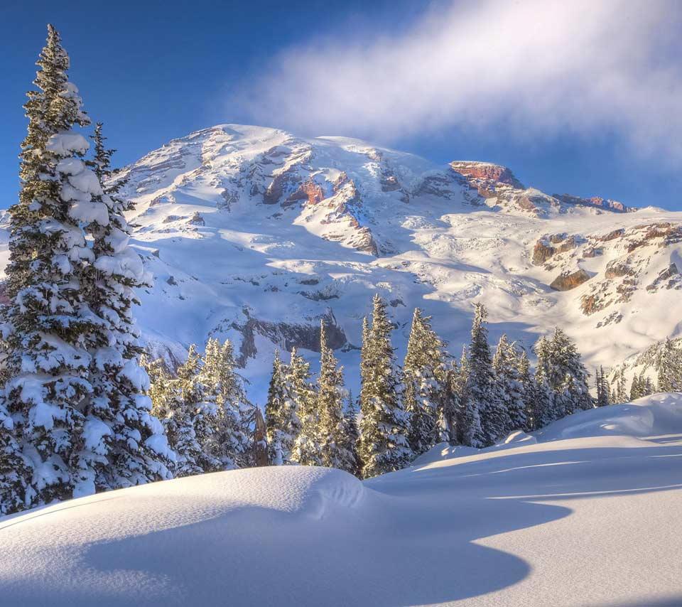 46 Winter Mountain Scenes Wallpaper On Wallpapersafari