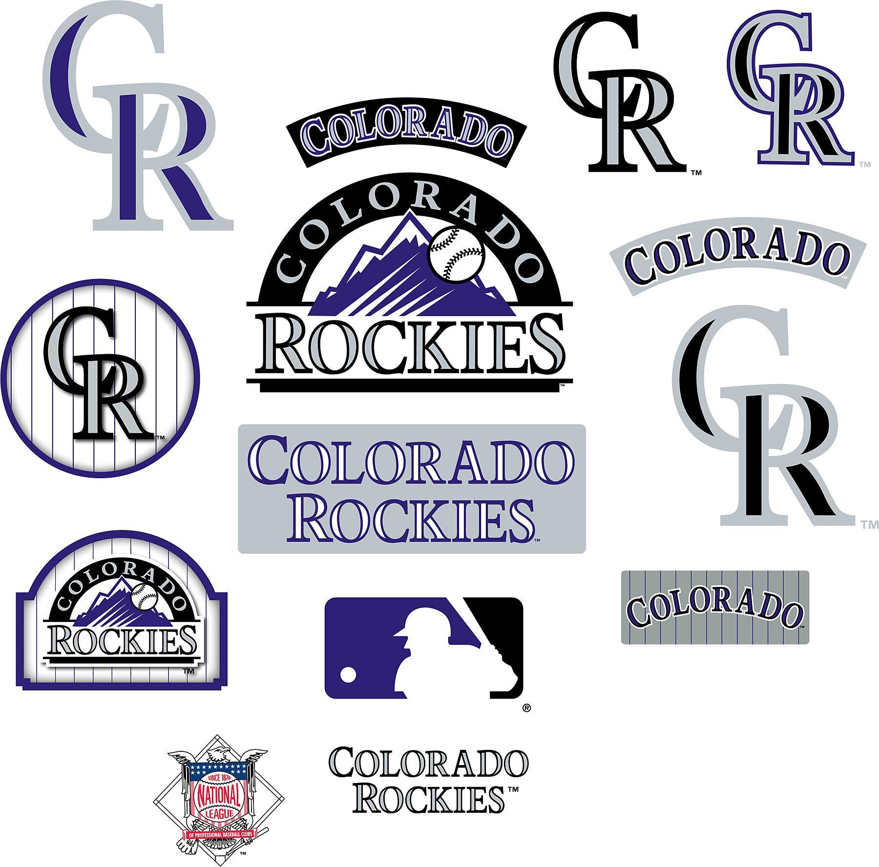 Colorado rockies embroidery logo design