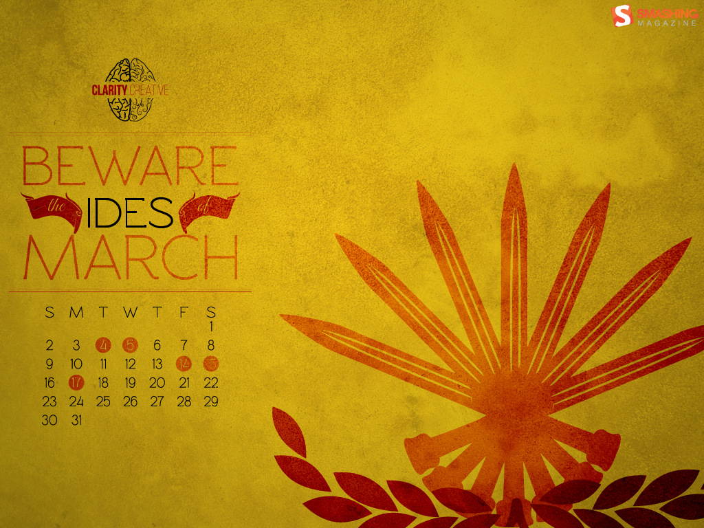 Desktop Wallpaper Calendars March 2014 DigitalMofo 1024x768