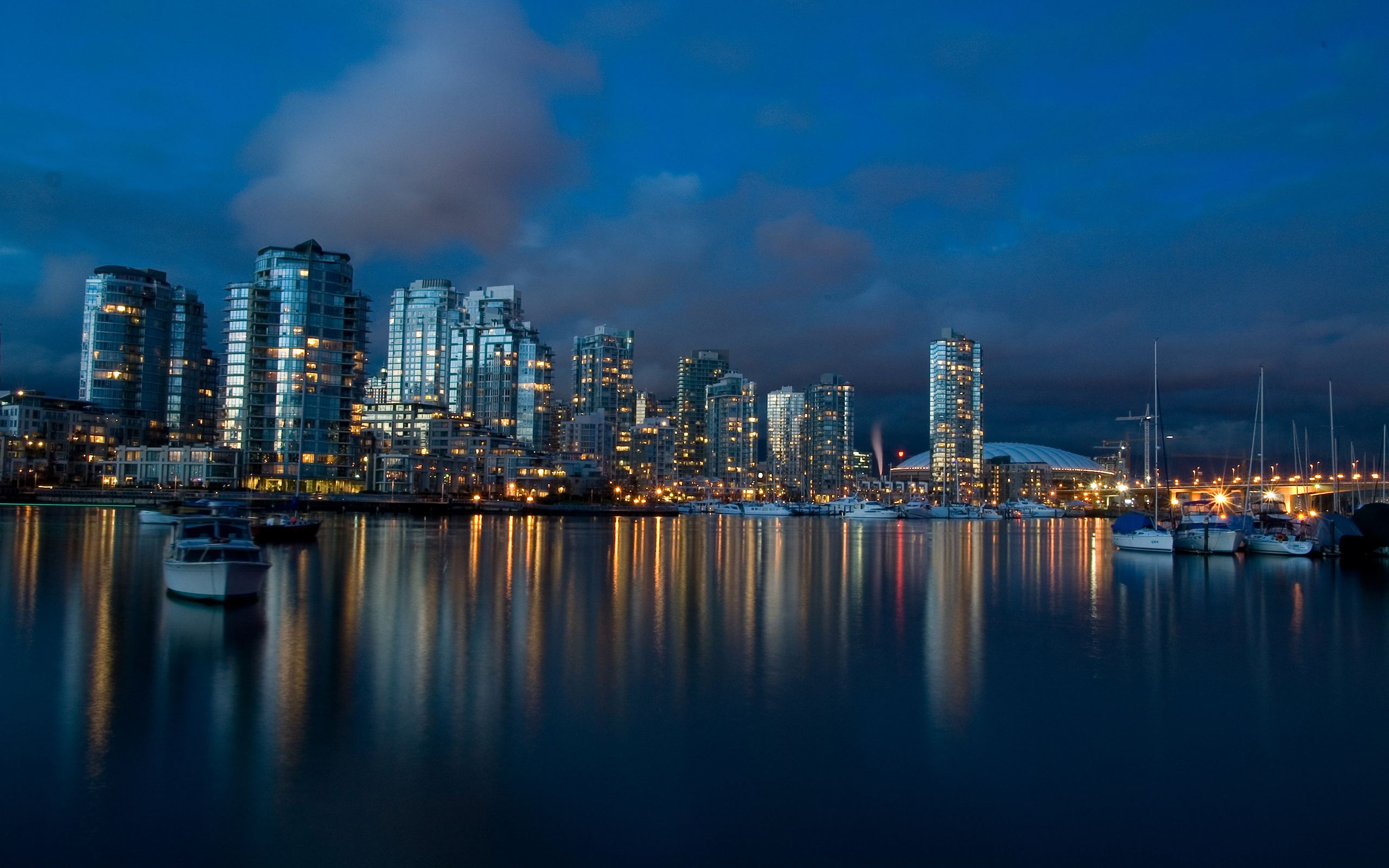 Vancouver Dusk Wallpapers HD Wallpapers 2560x1600