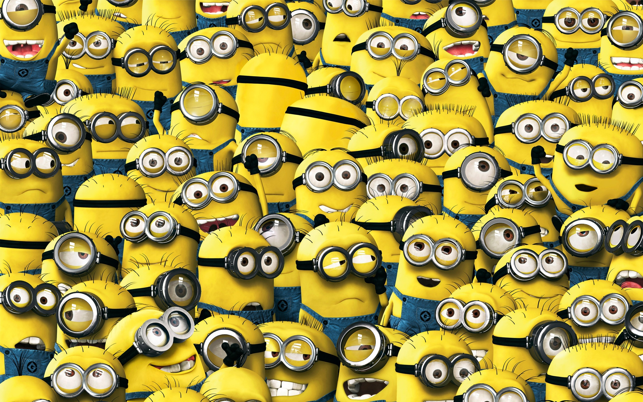 Wallpaper despicable me minions despicablem me 2 yellow animation 2560x1600