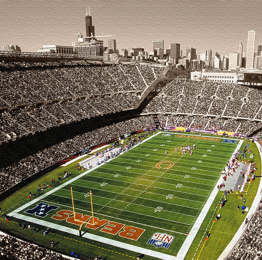 Soldier Field Chicago Bears Gallery Wrapped by HolyCowCanvas 920x914