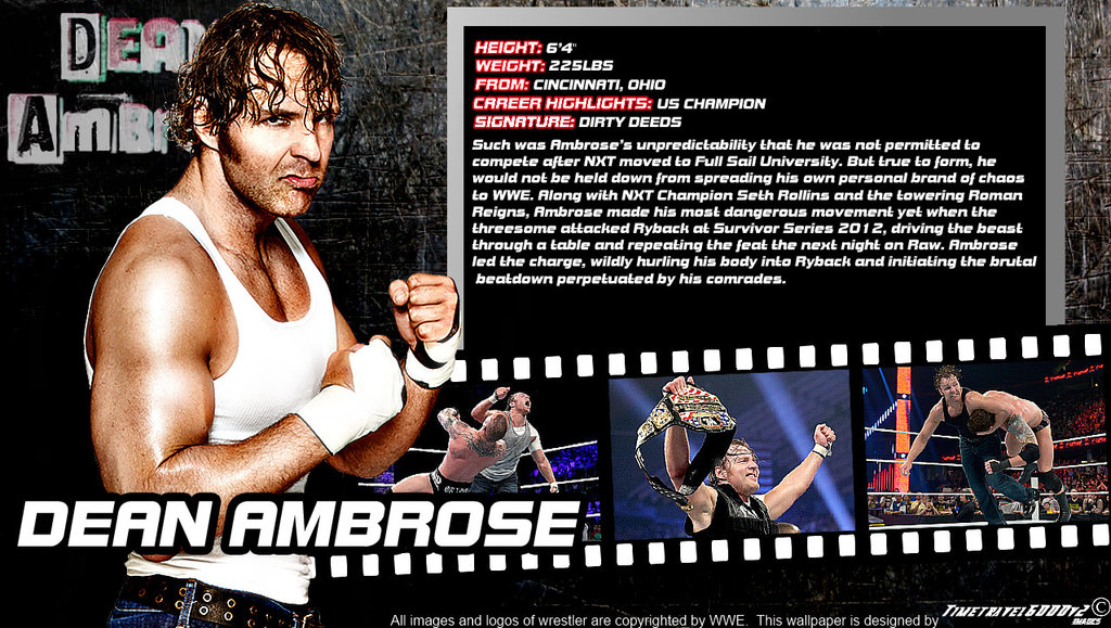 Dean Ambrose Wallpaper Wwe dean ambrose id wallpaper 1024x579