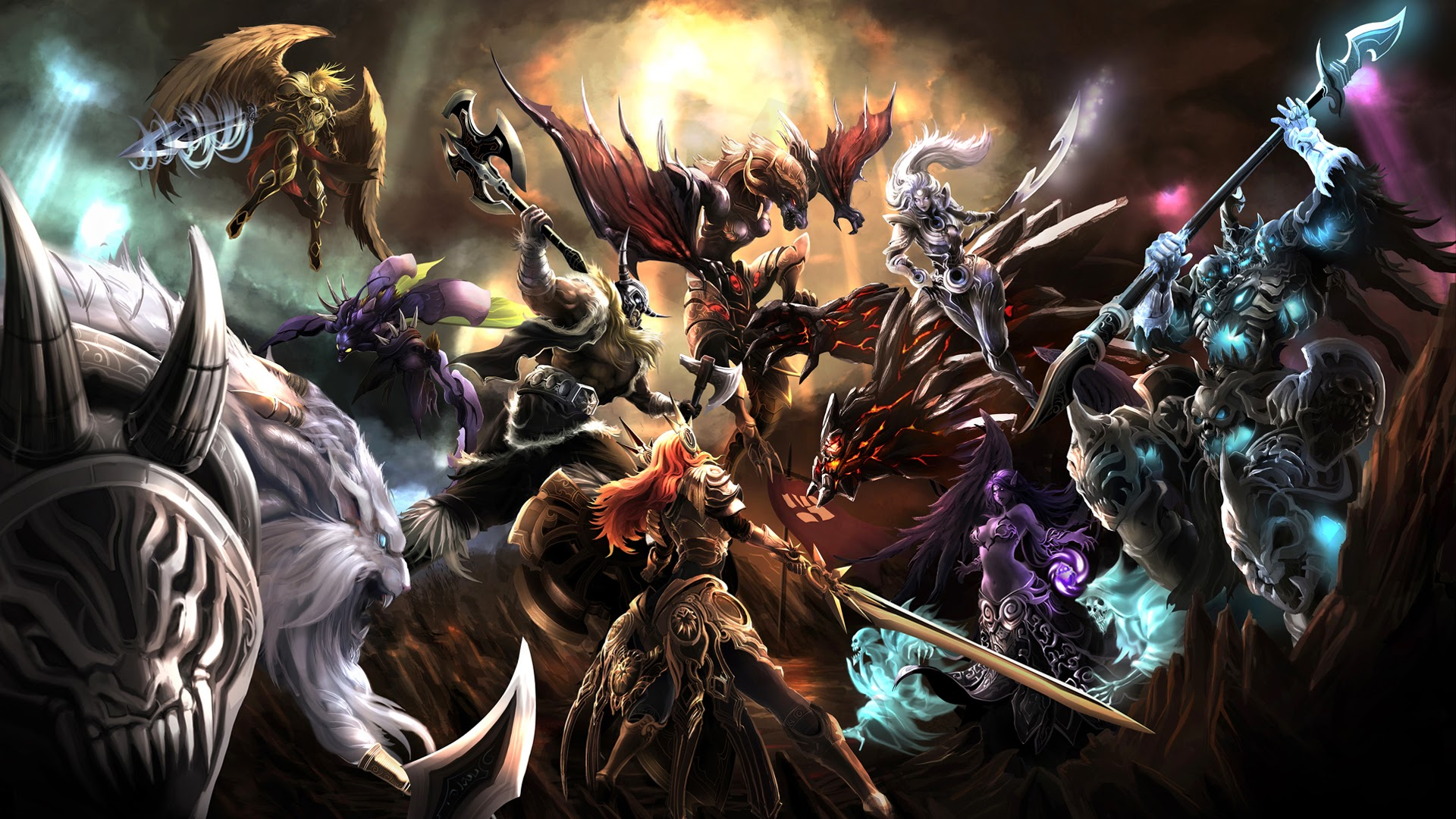 league of legends epic clash battle hd wallpaper background 1920x1080