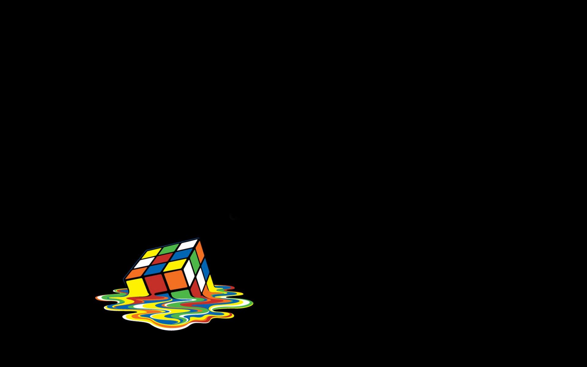 Rubik Cube Schmelzen Vektor Hintergrundbilder Rubik Cube Schmelzen 1920x1200