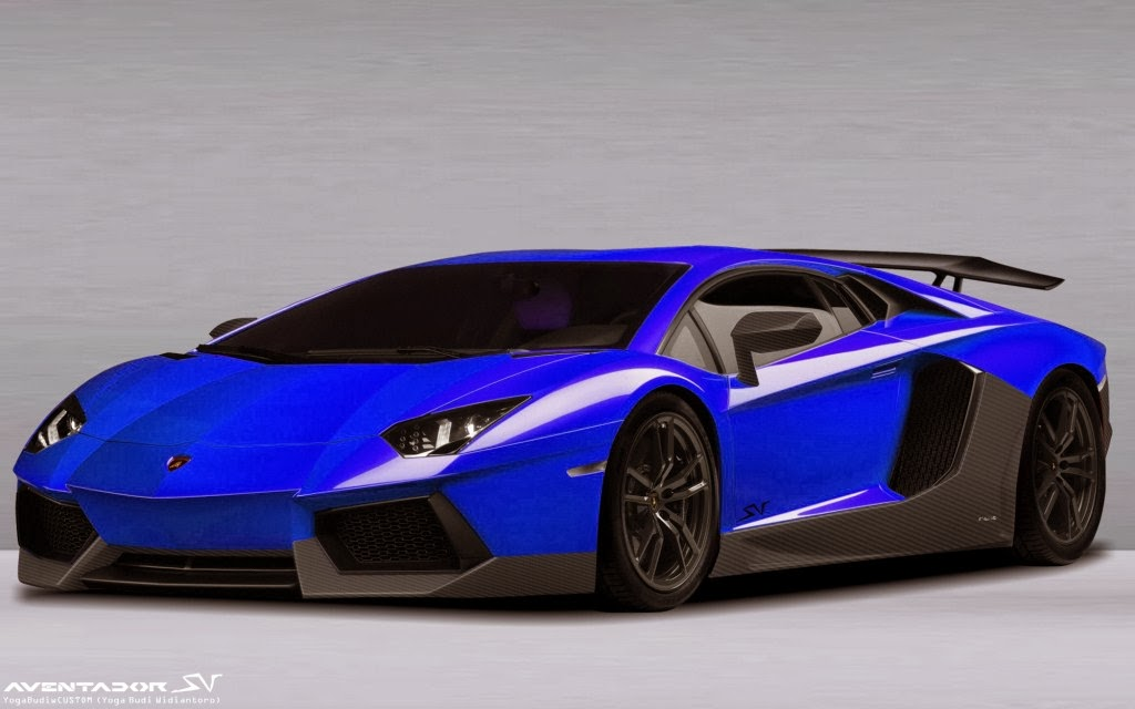 2015 Lamborghini Aventador SV Car Blue 2 Doors open cars images 1024x640