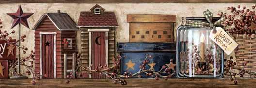 Outhouses Wallpaper Border Inccom 528x182