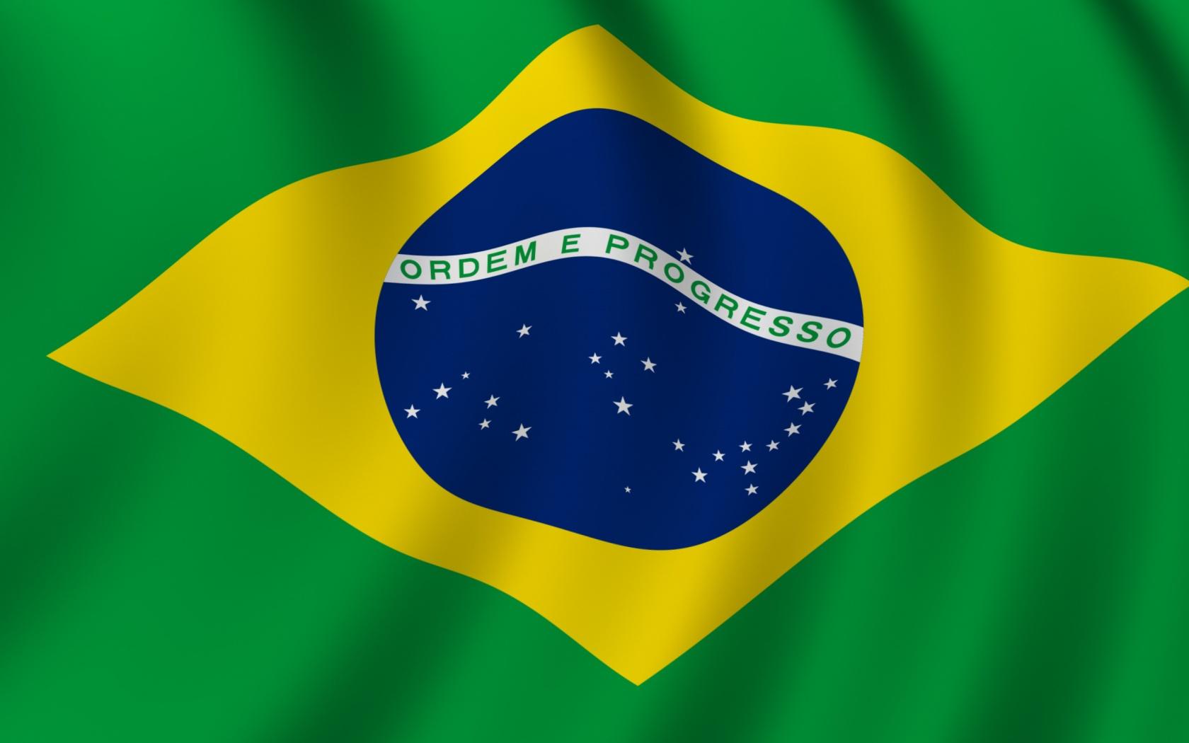 Brazil flag wallpaper in 1680x1050 screen resolution 1680x1050