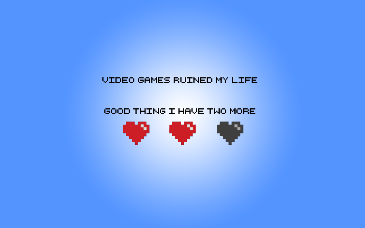 1280x800 Video Games Ruined My Life desktop PC and Mac wallpaper 1280x800