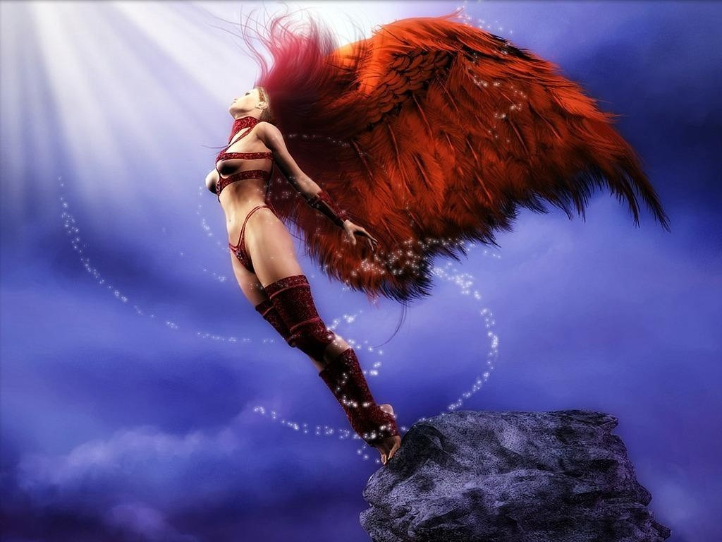 Wallpapers Collection Great Wallpapers Fantasy Wallpaper Of Angel 1024x768