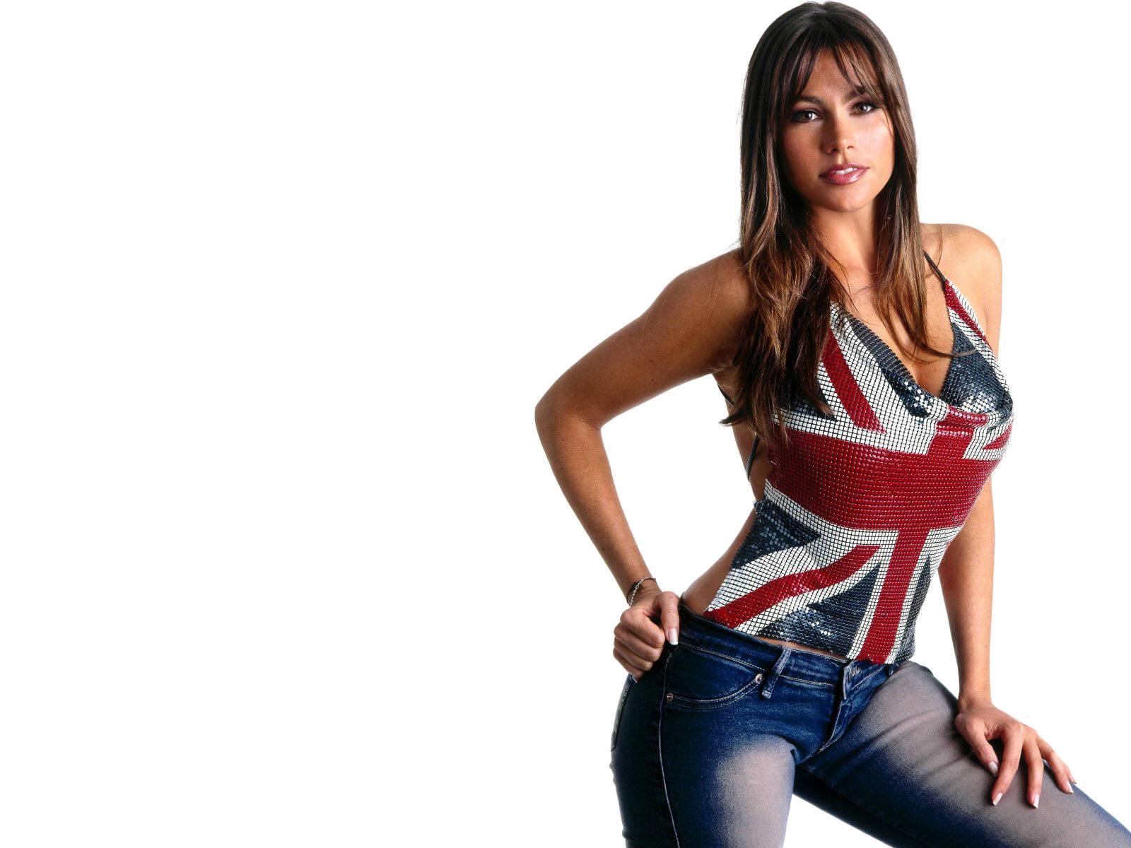 Sofia Vergara England Flag Top HD Wallpapers 1600x1200