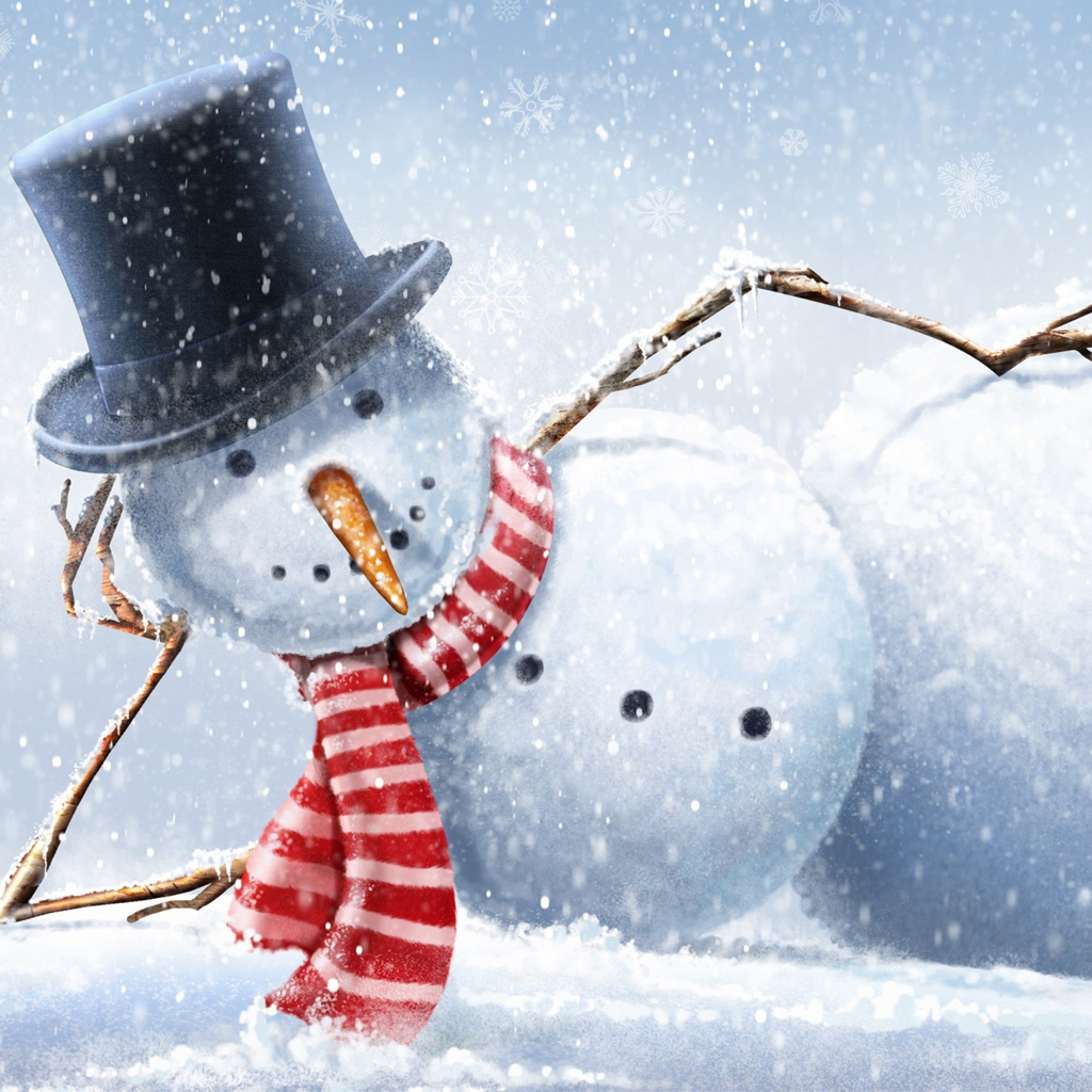 Cool snowman iPad Wallpaper Download iPhone Wallpapers iPad 1024x1024