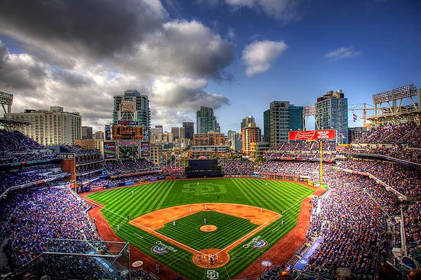 Petco Park Opening Day Greeting Card for Sale by Shawn Everhart 600x400