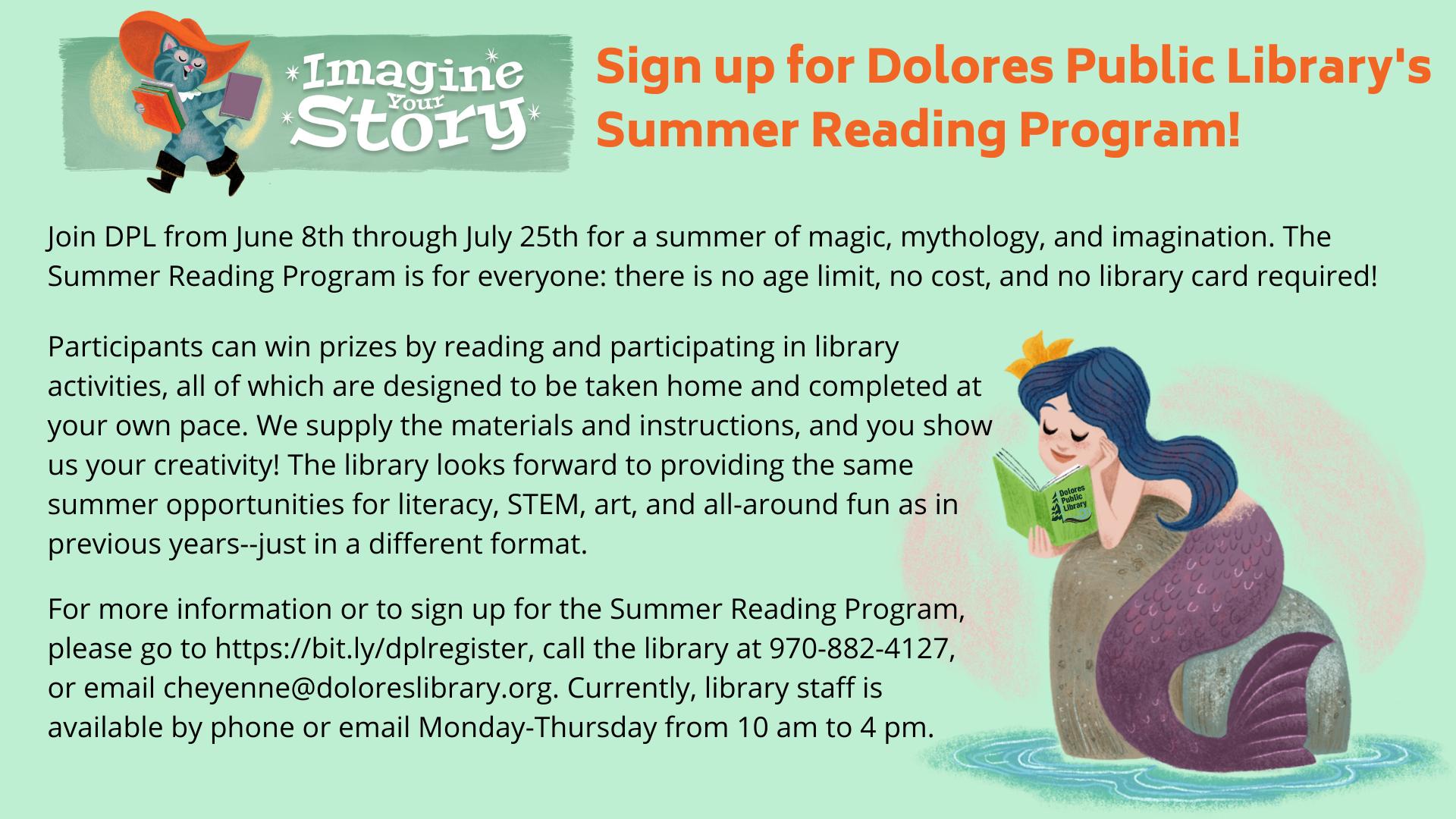 Summer Reading Program 2020 Dolores Public Library 1920x1080