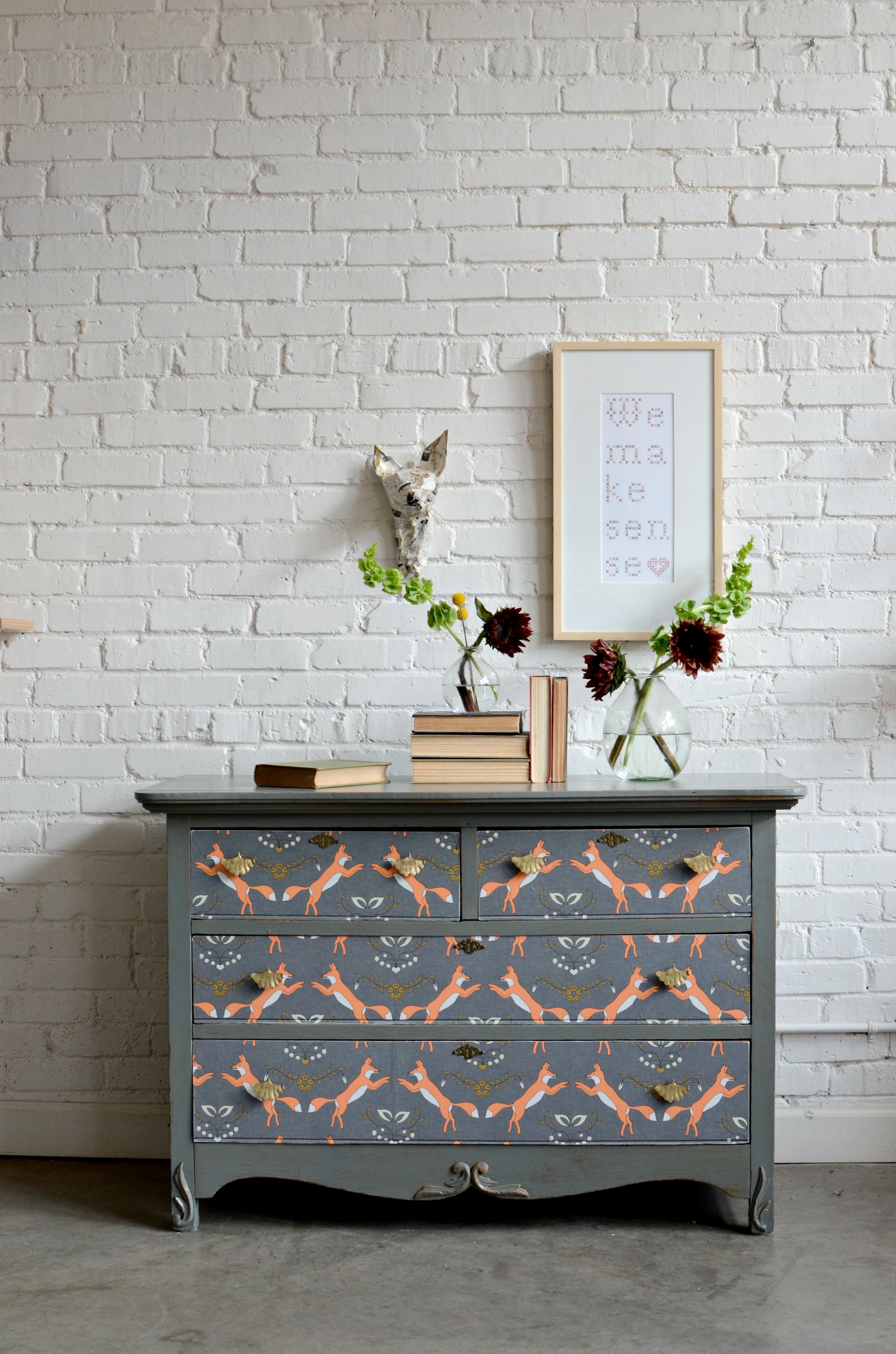 Dresser Upcycle DIY Home Decor Spoonflower Blog 2170x3277