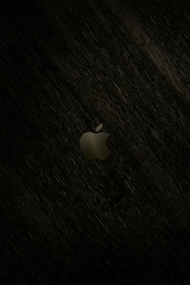 iPhone iBlog Dark Apple Retina iPhone 4 3GS Wallpapers 640x960