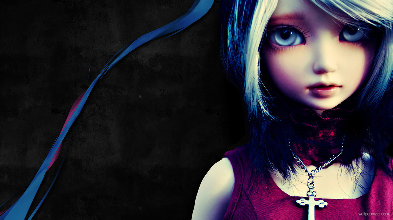 HD Barbie Doll Without Makeup Girl Games Wallpaper Coloring Pages 1366x768