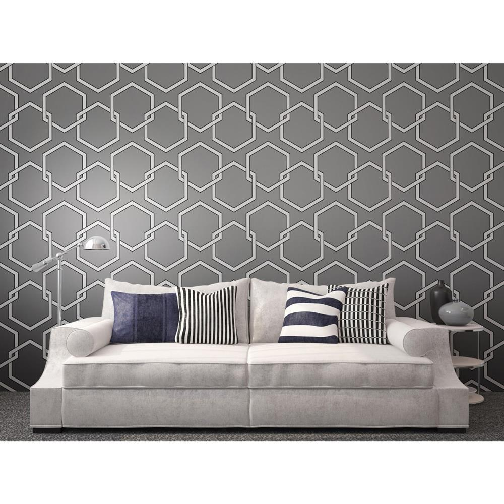 Industrial Loft Grey White Black Removable Wallpaper Removable 1000x1000
