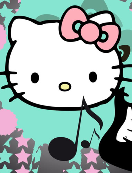 Hello Kitty Rockstar Wallpaper For Phones And Tablets 450x590