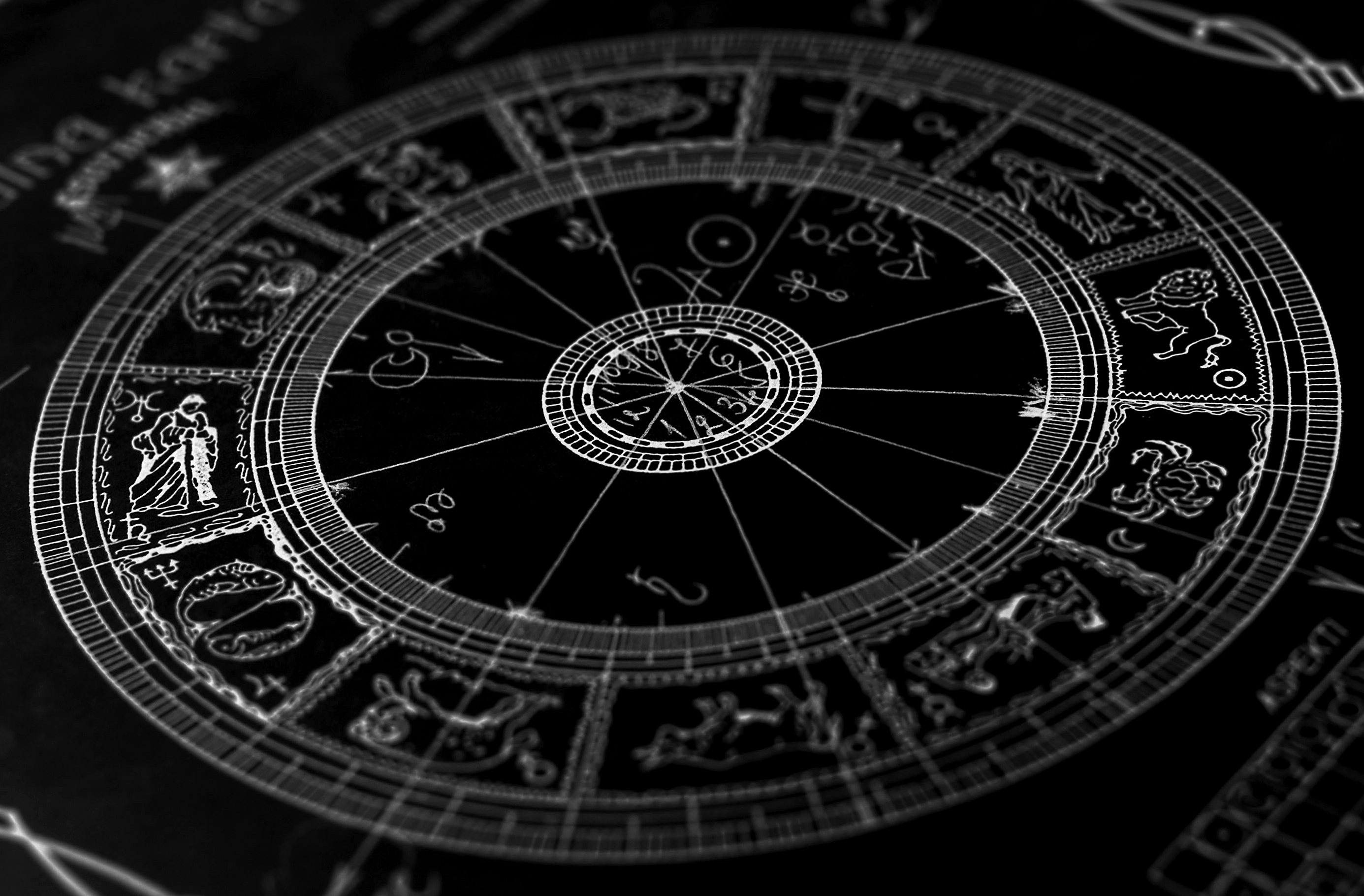 Zodiac signs Signs of the Zodiac  a beautiful picture on a black 2771x1820