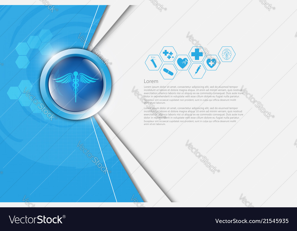 Abstract background medical health care pharmacy Vector Image 1000x780