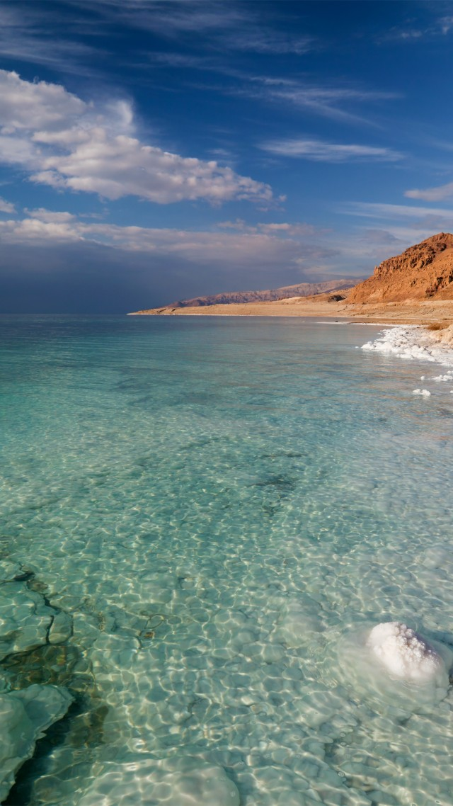 Wallpaper Dead Sea 5k 4k wallpaper Israel Palestine Jordan 640x1138