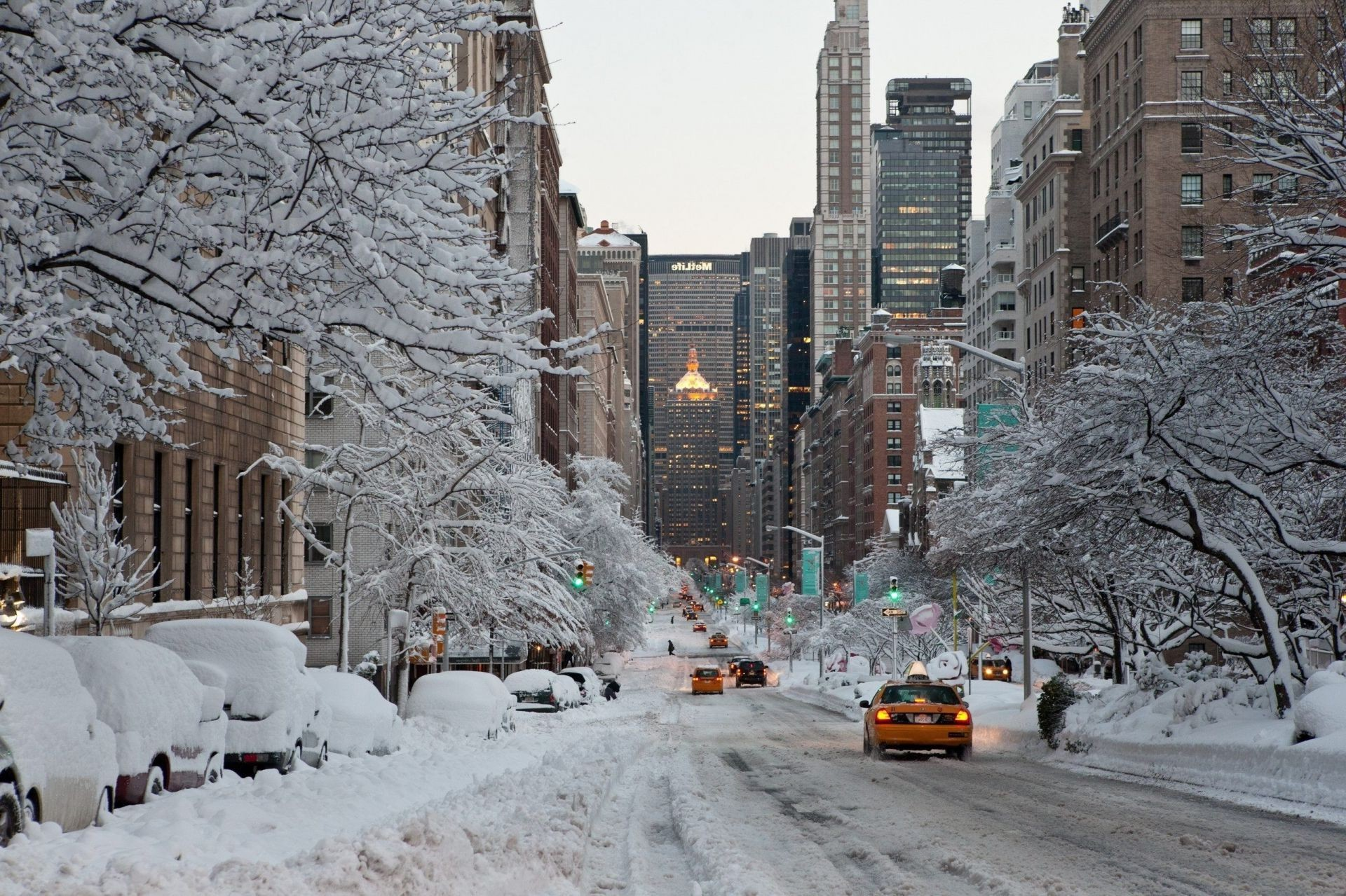 nyc winter scenes wallpaper wallpapersafari