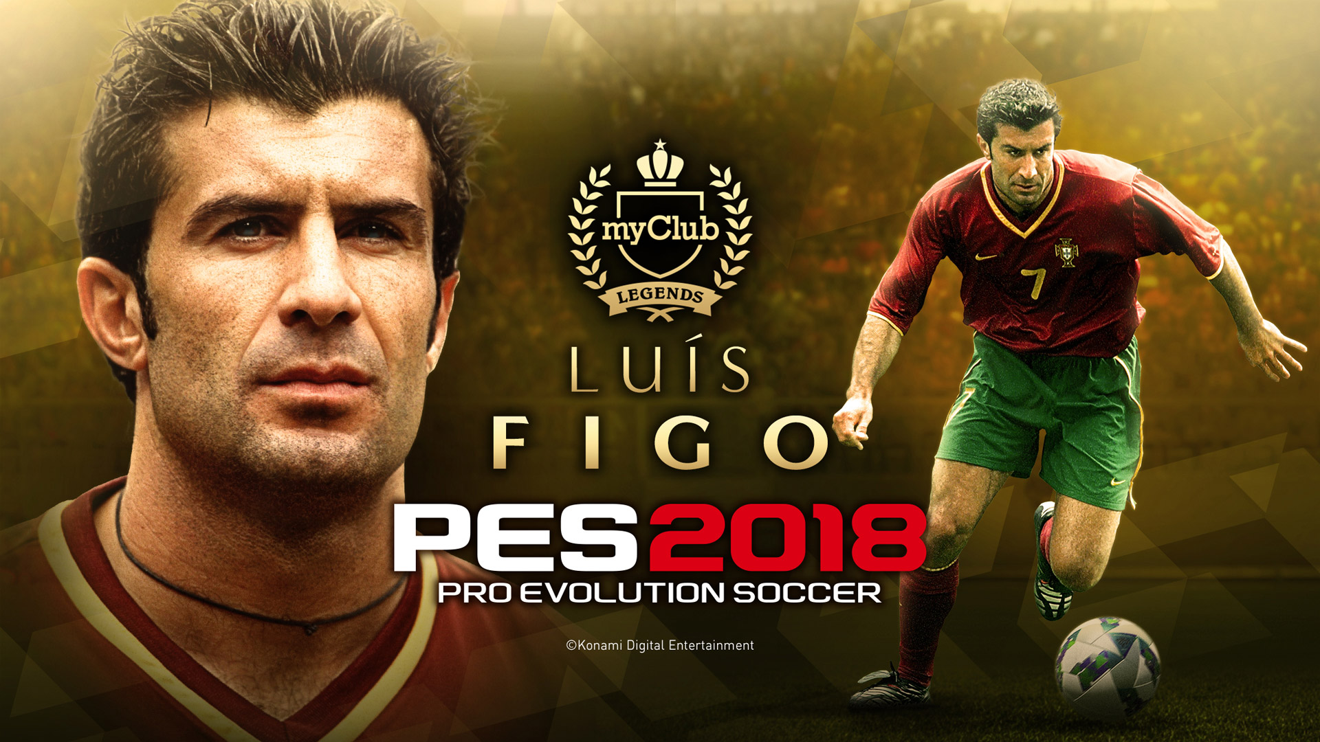 Portuguese Legend Lus Figo is coming to Pro Evolution Soccer 2018 1920x1080