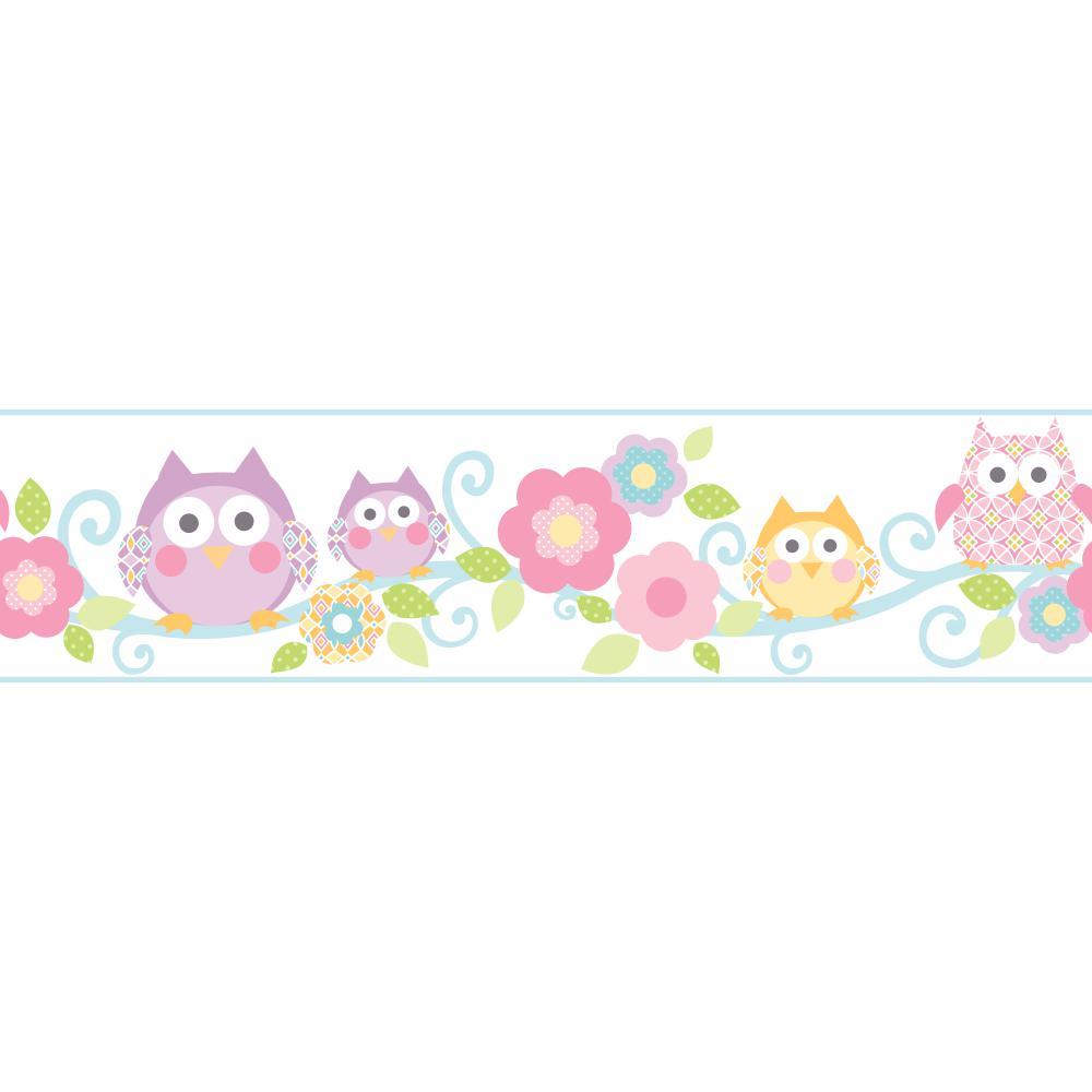 Cool Kids KS 2214BD Owl Branch Wallpaper Border   Wallpaper Border 1000x1000