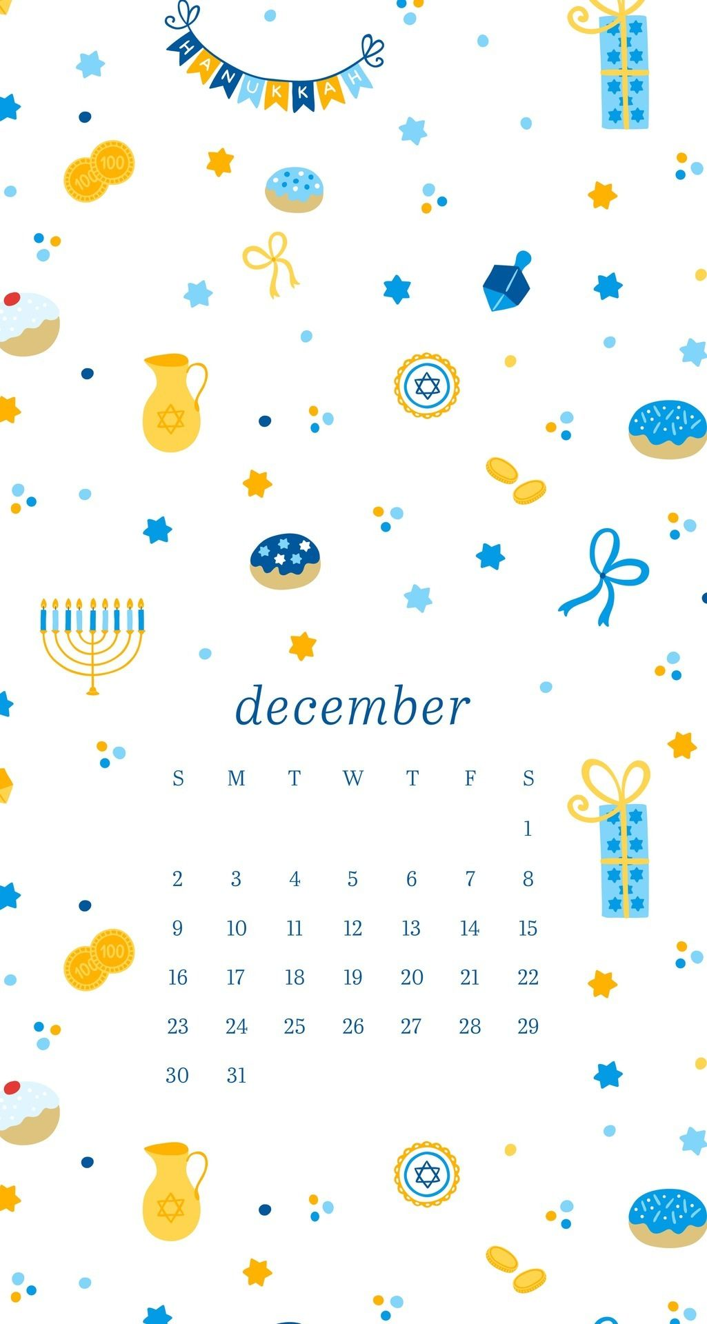 emmas studyblr December Hanukkah Phone Wallpapers Here are two 1025x1920