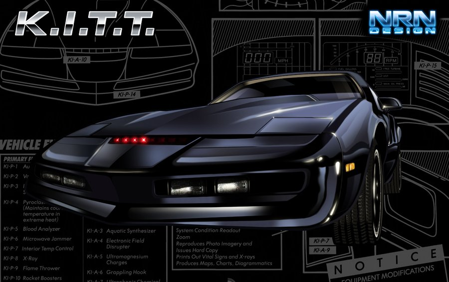 Knight Rider KITT Art The Car Wallpapers 900x565
