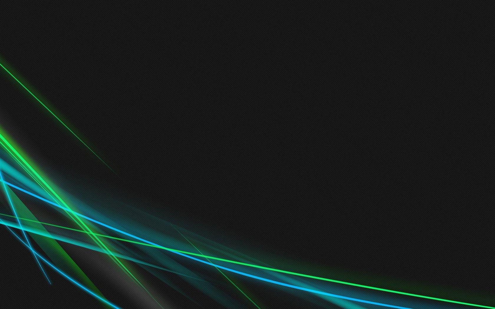 Download Blue and green neon curves wallpaper 1680x1050