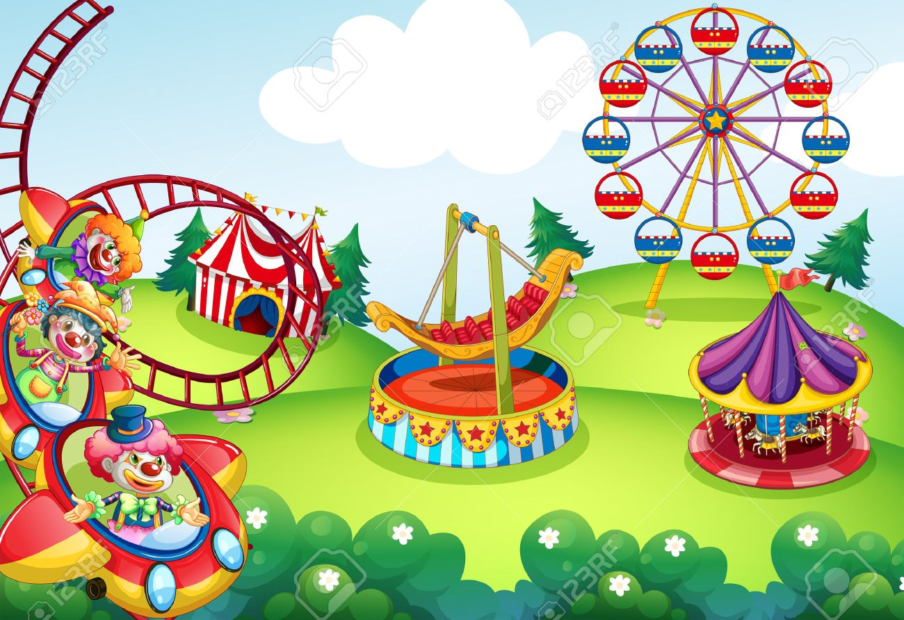 Wallpaper Of Circus And Theme Park Design Royalty Cliparts 1300x892