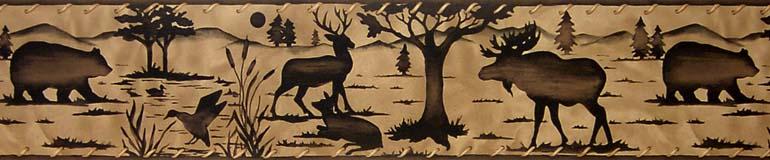 about BATHROOMBEAR MOOSEDEERPIN E Wallpaper Border 10030703 770x160