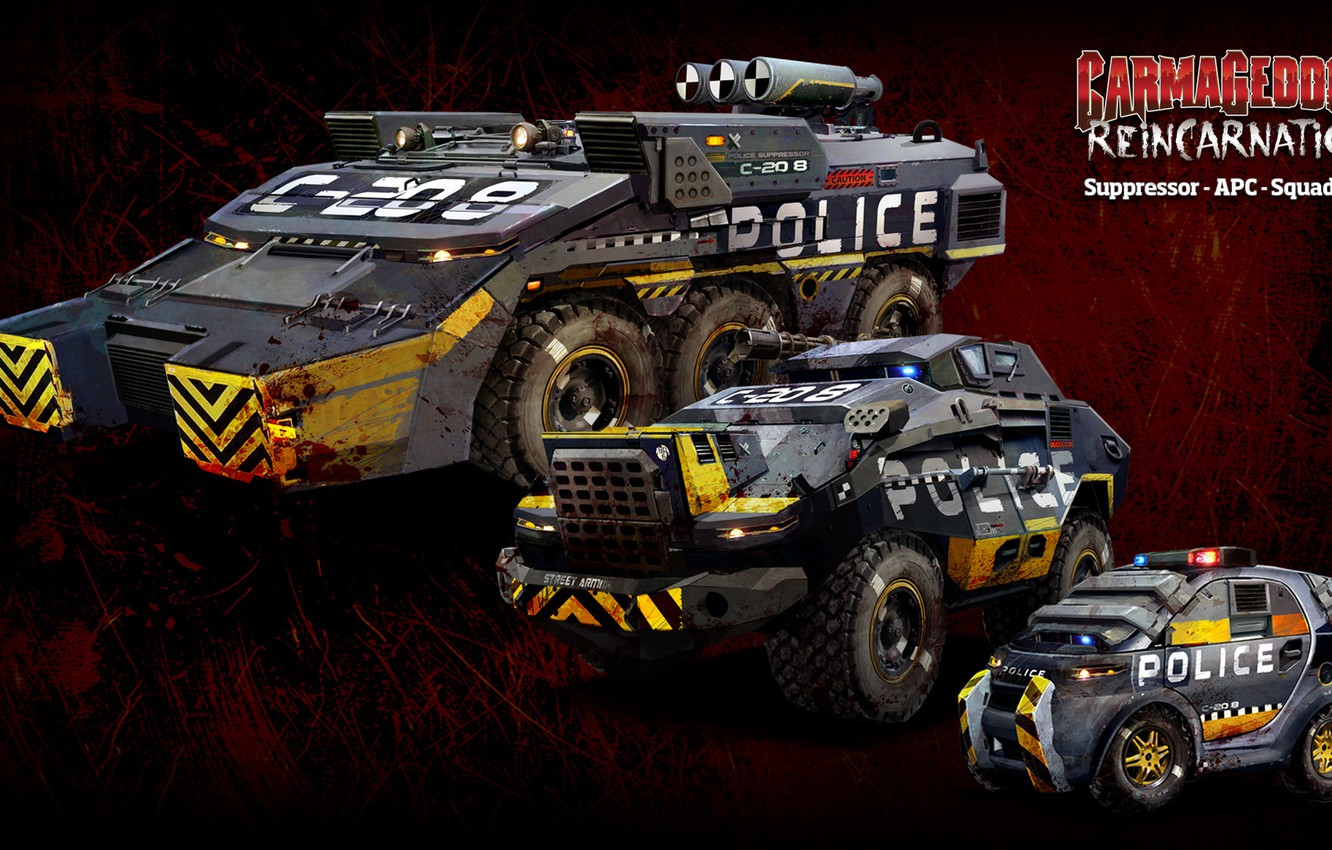 Wallpaper The game Game Cars Carmageddon Reincarnation APC 1332x850