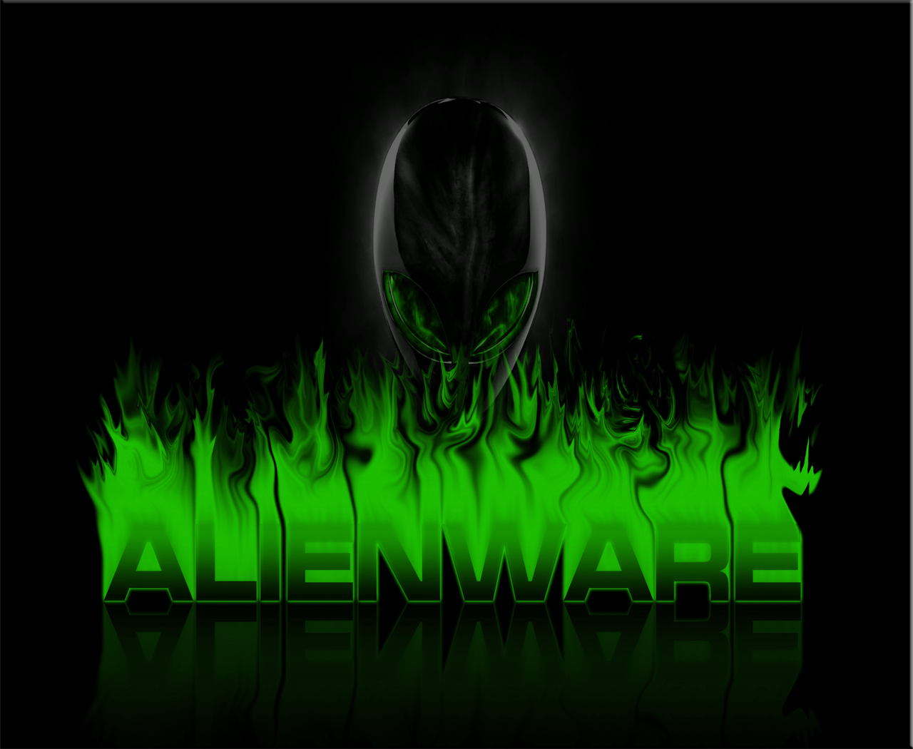 Green Alienware Wallpapers 1280x1050
