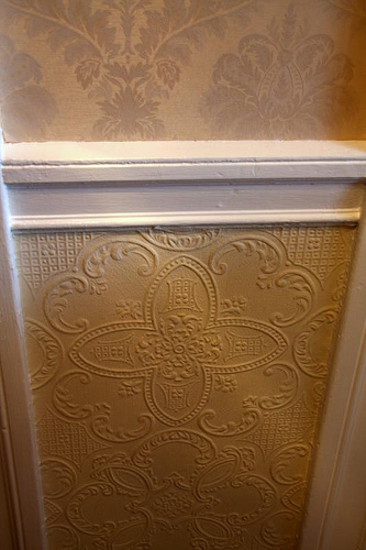 wainscoting and wallpaper in main hall Flickr   Photo Sharing 333x500