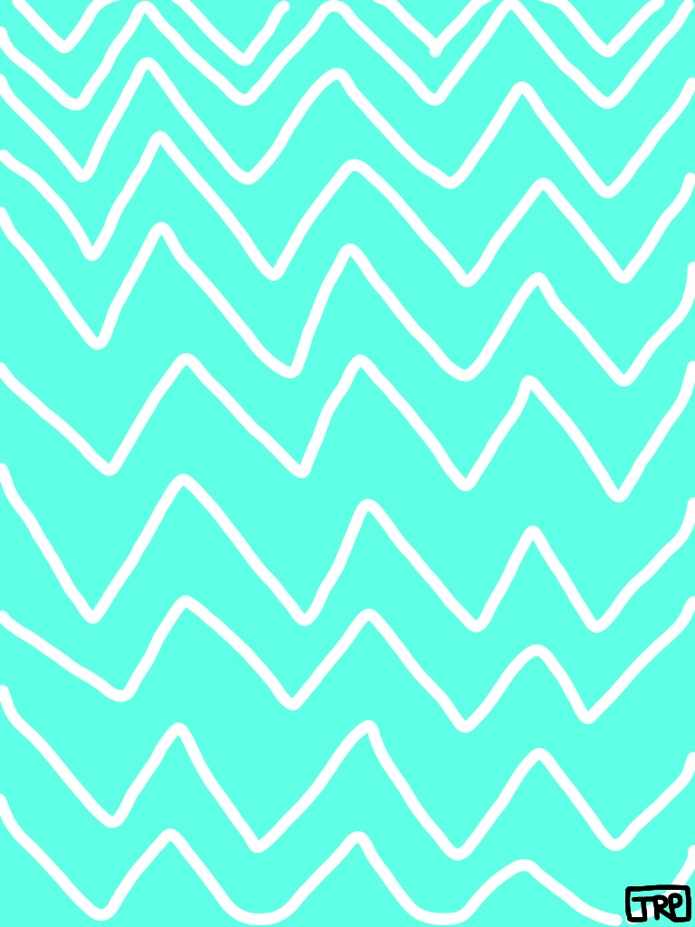 Cute teal wallpapers wallpapersafari for Teal chevron wallpaper